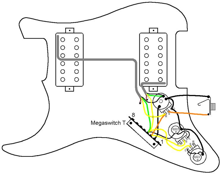 3 Way 4 Pole Guitar Wiring Diagram